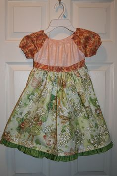 Spring fairy dress using Michael Miller fabric.  Size 2T