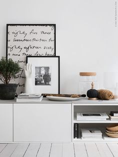 DIY tip - make a TV stand out of IKEA's kitchen cabinets. Read more at Scandinavian interior blog www.trendenser.se