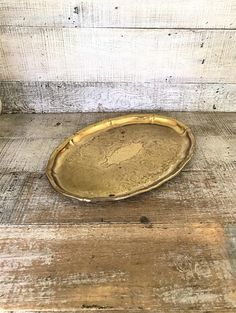 Brass Tray Ornate Etched Floral Design Brass Serving Tray