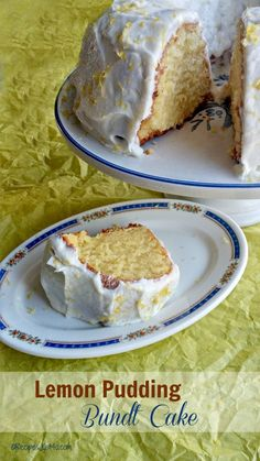 This Lemon pudding bundt cake was the hit of my husband's birthday party. It is rich, and moist and full of spring time freshness. Best Dessert Recipes, No Bake Desserts, Cake Recipes, Baking Desserts, Pudding Icing, Lemon Bundt Cake, Love Cake, Cupcake Cakes, Cupcakes