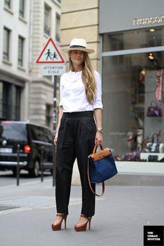 White Shirt - Black Pants