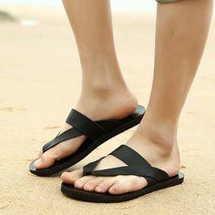 Aliexpress.com: Comprar 2015 nuevos hombres del cuero genuino zapatos sandalias casuales zapatillas exterior de gama alta cómodo flip flop de sandalias de pvc fiable proveedores en FlipFlopBuy