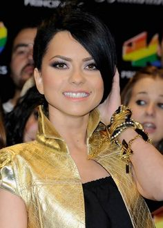 Inna at the 40 Principales Awards in December 2010 in Madrid, Spain...