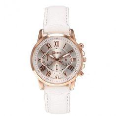 New Women Round Wristwatch Multi Dial Quartz Battery Analog Casual Sports Watch