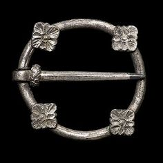 Brooch. 3,3 cm diameter.  1250-1349. Most likely late 13th century. Silver.  Found in Bohuslän, Sweden
