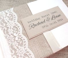 Hessian/Burlap Wedding Day Guest Book - Rustic Charm - £28.50