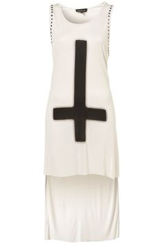 Studded Cross Tunic Top from TopShop
