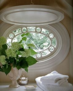 Home Interior Design .Home Interior Design Attic Renovation, Attic Remodel, White Cottage, Cottage Style, Diy Inspiration, Through The Window, Windows And Doors, Oval Windows, Shaped Windows