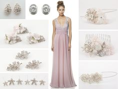 #BariJay bridesmaid gown 1466 with #Richarddesigns accessories!