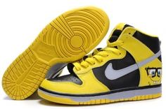 meet e676e b3ae4 Buy Nike Dunk SB 2012 New High Cut Mens Shoes SpongeBob SquarePants Yellow  Black Gray Super Deals from Reliable Nike Dunk SB 2012 New High Cut Mens  Shoes ...