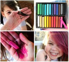 how to dye hair with chalk