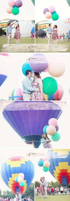 Hot air balloons and balloons...my heart :]