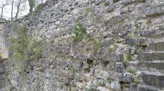 Wall at Burg Regenstein. Saxony-Anhalt, Germany