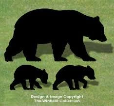 Image result for black bear applique pattern free