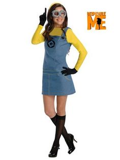 Women's Despciable Me Minion Costume | Wholesale Despciable Me Minion Costume for Adults Halloween Costumes for Despciable Me Minion Costume for Women 27.90