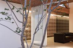 Architecture, Comely Brazilian Gedda House Project By Mustafa Bucar Arquitetura In Goias Brazil Featuring Batik Wall Interior Design, Wooden Ceiling And Sofa: Cool Contemporary Brazilian House with Artistic Wall Design