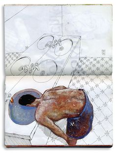 Moleskine, Artist Sketchbook, Ap Art, Sketchbook Inspiration, Art Plastique, Aesthetic Art, Art Inspo, Book Art, Art Drawings