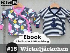 ★ ebook Wickeljäckchen  7 Größen!! von Kid5  auf DaWanda.com