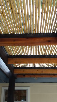 cedar and bamboo pergola detail