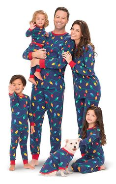 Christmas Lights Matching Family Pajama Set- Blue - C911R6QV8AD. Best Family  Christmas PajamasXmas ... e310c3e5e