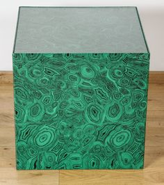 1950s 'CUBO' Side Table in malachite by Piero Fornasetti image 2