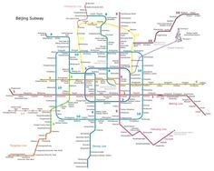 Plano del Metro de Pekín