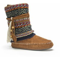 Muk Luks Women's Chestnut Ricki Slipper Brown ($35) ❤ liked on Polyvore featuring shoes, slippers and brown
