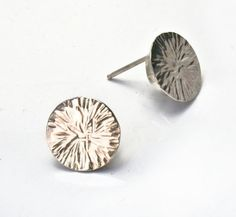 Handmade Hammered Silver Circle Posts by alicescottsymbology, $58.00