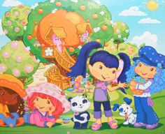 Strawberry Shortcake and Friends - 24x36 Poster - ONLY $14.99 - http://aimcollectibles.blogspot.com/2012/09/strawberry-shortcake-and-friends-24x36.html