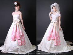 Japanese Wedding Dresses Beyond the Kimono: Aliansa's Modern Kimono Fabric Wedding Dresses