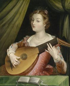 School of   Fontainebleau (c.1530-c.1610) —  The Lute Player  (786×960)