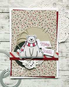 Een nieuw kaartje op mijn Stampin Cards and Memories Blog, gemaakt met materialen uit de Mix 'n Up! Kit. In combinatie met @mftstamps Polar Bear Pals #mixnupkit #stampinup #mftstamps #birdiebrown #copic #cardmaking #cards #stamping #papercraft