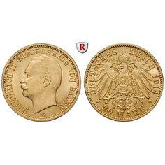 Deutsches Kaiserreich, Baden, Friedrich II., 20 Mark 1914, G, vz, J. 192: Friedrich II. 1907-1918. 20 Mark 1914 G. J. 192; GOLD,… #coins