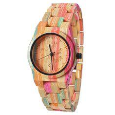 Reloj de las mujeres de FunkyTop Relojes de cuarzo de madera natural hechas  a mano del 610f9c0a62e9