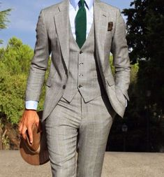 Absolute Bespoke — Winter Three Piece Suit by Absolute Bespoke. Three Piece Suit, 3 Piece Suits, Mens Fashion Suits, Mens Suits, Style Gentleman, Terno Slim, Light Grey Suits, Black Suits, Look Man