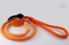 Our Cotton rope leash are handmade and hand dyed. Strong and quality cotton rope for long durability and very nice look.