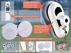 Amazon.de: Sichler Haushaltsgeräte Fensterreinigungsroboter: Intelligenter Fensterputz-Roboter PR-030 V2 (Fensterputz Maschine) Technology, Vacuum Cleaners, Plaster, Robot, Remote, Cleaning