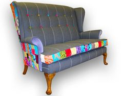 Patchwork Parker Knoll sofa by JustinaDesign on Etsy, £750.00