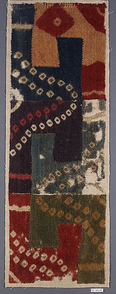 Huari or Wai Culture, Peru, Tunic Fragment   7th-9th century.