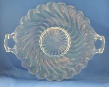 Fostoria Colony Cake Plate Clear Glass