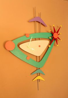 Woodworking for Mere Mortals: Free woodworking videos and plans. : Jetsons wall clock!