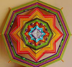 Mandala Ojo de Dios Healing power 38 sm por MandalaSvetlanaBarba