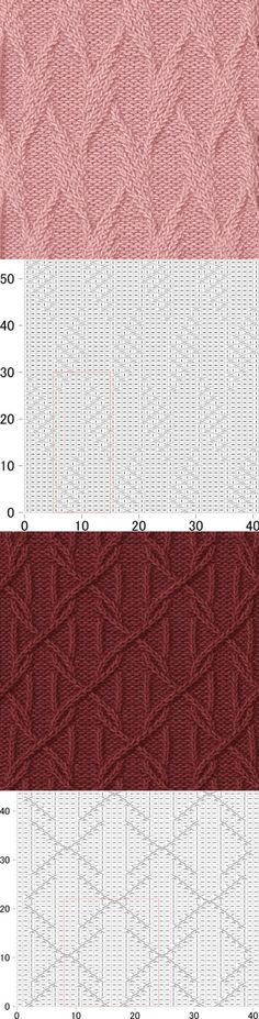 cable/travelling knitting stitch pattern