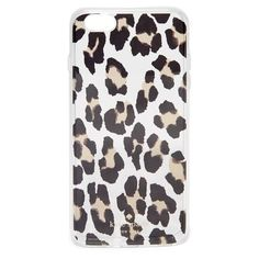 Kate Spade New York Leopard Clear iPhone 6 Plus / 6s Plus Case ($45) ❤ liked on Polyvore featuring accessories, tech accessories, clear multi, iphone cases, kate spade iphone case, leopard iphone case, iphone cover case and apple iphone cases