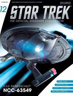 Nx-01 modelo de metal con revista alemán-Eaglemoss #3 Star Trek