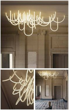 Les Cordes chandelier by Mathieu Lehanneur for Château Borély & Modern LED Lighting Design Saturn K Maltani Korea Black Shades ... azcodes.com