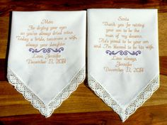 Mother of the Bride & Groom Wedding Gifts by CanyonEmbroidery, $49.50 #wedding #weddinggift