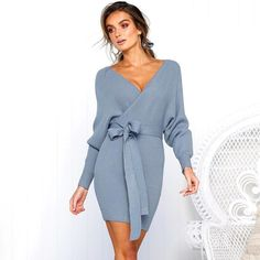 Pcutrone Womens Cover up Casual Slit Pocket Loose Party Dresses
