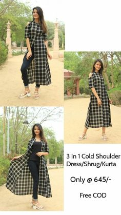 for dresses, Kurti designs party wear, Fashion The post appeared. Salwar Designs, Simple Kurti Designs, Kurta Designs Women, Kurti Designs Party Wear, Kurti Neck Designs, Designer Party Wear Dresses, Indian Designer Outfits, Indian Outfits, Shrug For Dresses