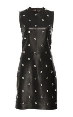 Studded Leather Sheath Dress by ALEXANDER WANG for Preorder on Moda Operandi